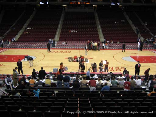 Seat view from section 120 at the Toyota Center, home of the Houston Rockets