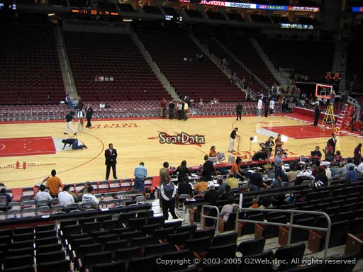 Seat view from section 121 at the Toyota Center, home of the Houston Rockets