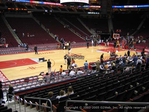 Seat view from section 122 at the Toyota Center, home of the Houston Rockets