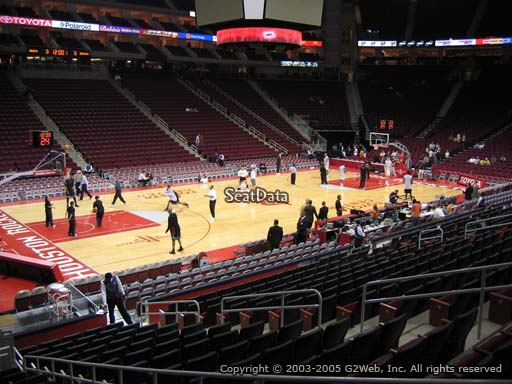 Seat view from section 123 at the Toyota Center, home of the Houston Rockets
