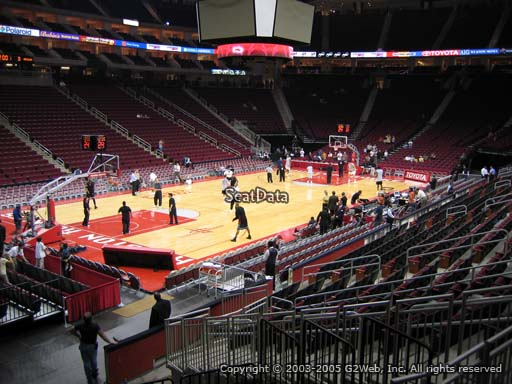 Seat view from section 124 at the Toyota Center, home of the Houston Rockets