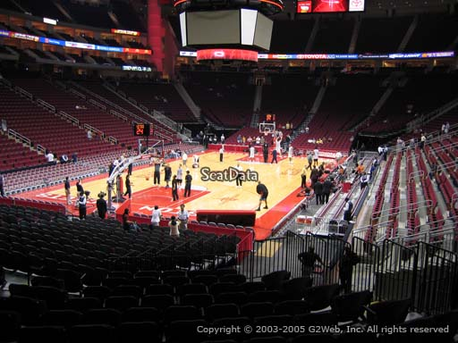 Seat view from section 125 at the Toyota Center, home of the Houston Rockets