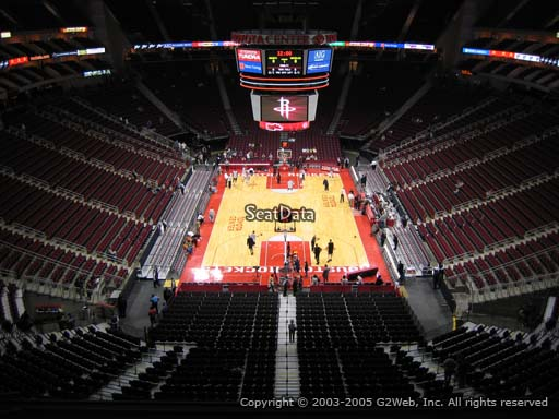 Seat view from section 401 at the Toyota Center, home of the Houston Rockets