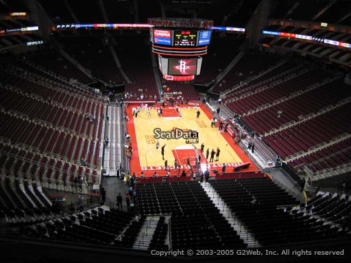 Seat view from section 402 at the Toyota Center, home of the Houston Rockets