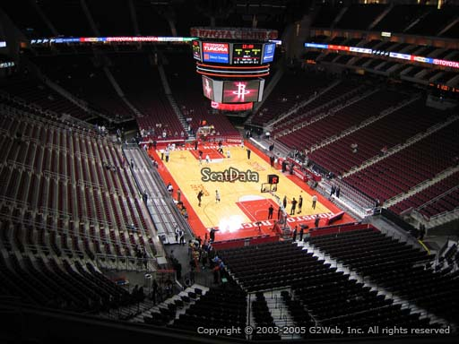 Seat view from section 403 at the Toyota Center, home of the Houston Rockets