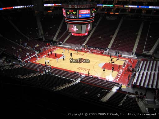 Seat view from section 407 at the Toyota Center, home of the Houston Rockets