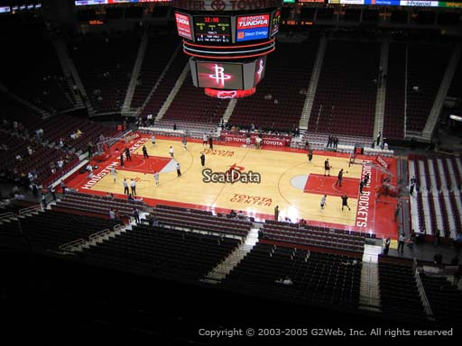 Seat view from section 408 at the Toyota Center, home of the Houston Rockets