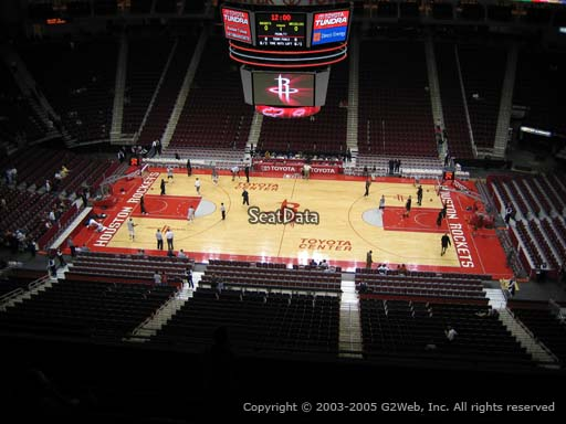 Seat view from section 409 at the Toyota Center, home of the Houston Rockets