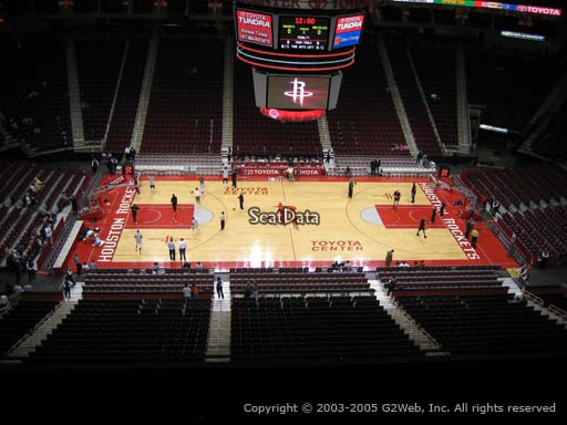 Seat view from section 410 at the Toyota Center, home of the Houston Rockets