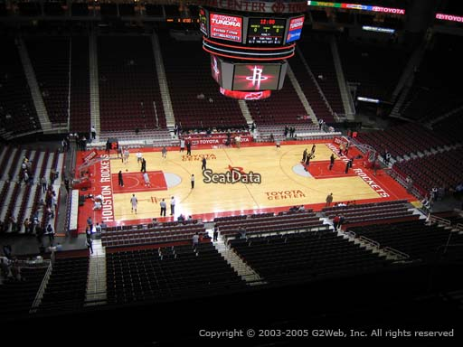 Seat view from section 411 at the Toyota Center, home of the Houston Rockets