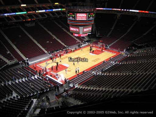Seat view from section 414 at the Toyota Center, home of the Houston Rockets