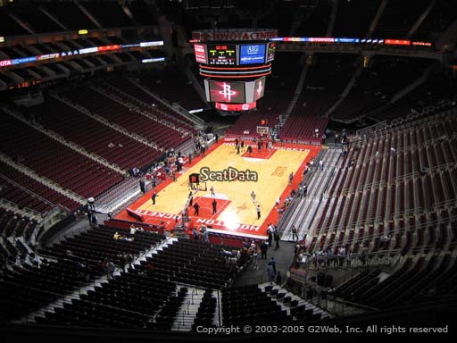 Seat view from section 416 at the Toyota Center, home of the Houston Rockets