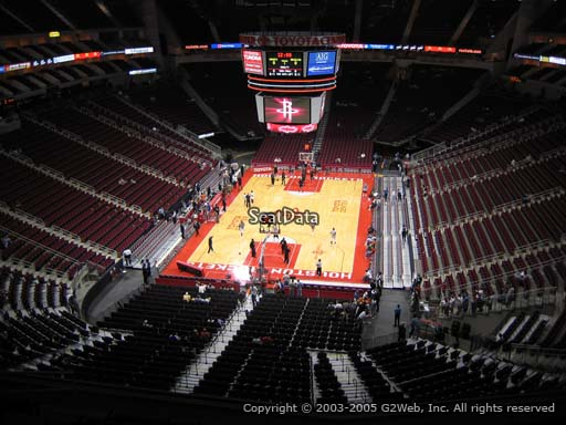 Seat view from section 417 at the Toyota Center, home of the Houston Rockets