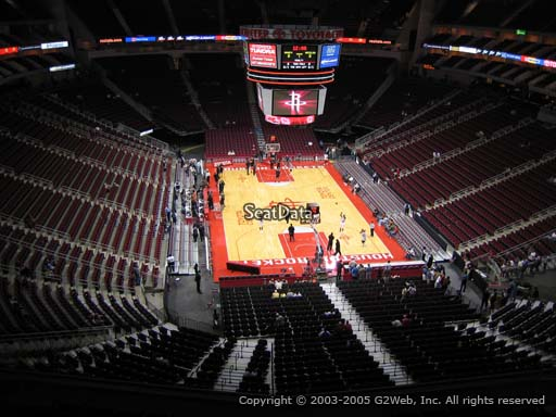 Seat view from section 419 at the Toyota Center, home of the Houston Rockets