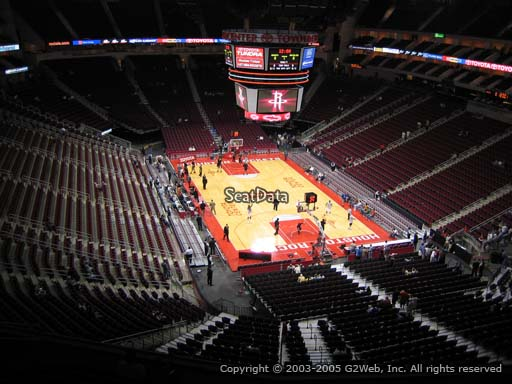 Seat view from section 420 at the Toyota Center, home of the Houston Rockets