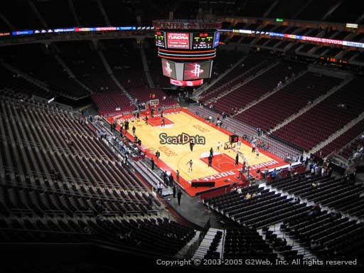 Seat view from section 421 at the Toyota Center, home of the Houston Rockets