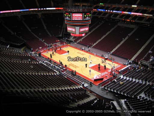 Seat view from section 422 at the Toyota Center, home of the Houston Rockets