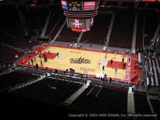 Seat view from section 425 at the Toyota Center, home of the Houston Rockets