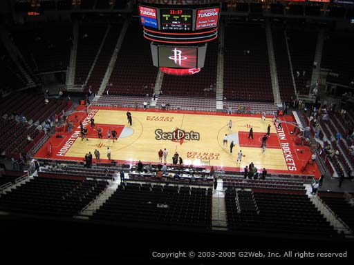 Seat view from section 426 at the Toyota Center, home of the Houston Rockets