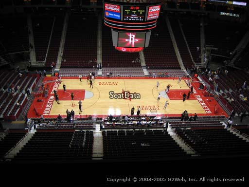 Seat view from section 427 at the Toyota Center, home of the Houston Rockets