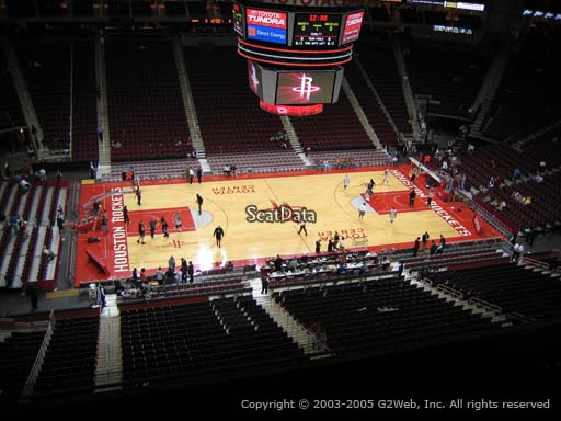 Seat view from section 428 at the Toyota Center, home of the Houston Rockets