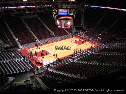 Seat view from section 430 at the Toyota Center, home of the Houston Rockets