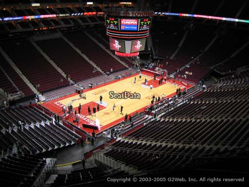 Seat view from section 431 at the Toyota Center, home of the Houston Rockets