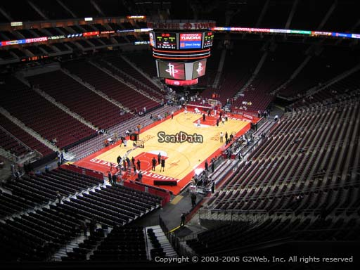 Seat view from section 432 at the Toyota Center, home of the Houston Rockets