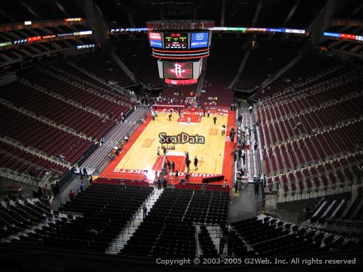 Seat view from section 434 at the Toyota Center, home of the Houston Rockets