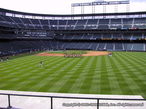 Seat view from section 105 at Coors Field, home of the Colorado Rockies