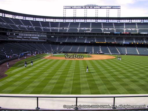 Seat view from section 107 at Coors Field, home of the Colorado Rockies
