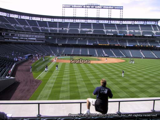 Seat view from section 108 at Coors Field, home of the Colorado Rockies