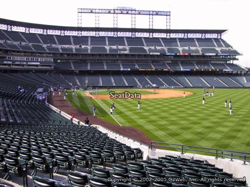 Seat view from section 110 at Coors Field, home of the Colorado Rockies