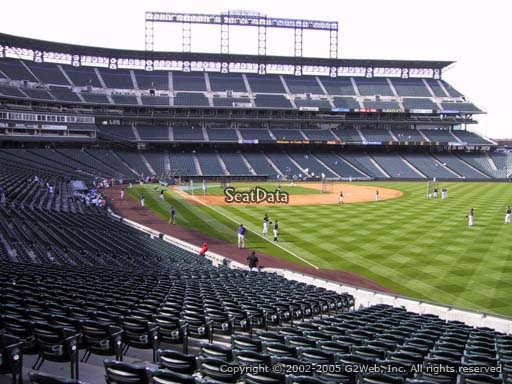 Seat view from section 111 at Coors Field, home of the Colorado Rockies