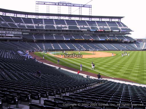 Seat view from section 112 at Coors Field, home of the Colorado Rockies