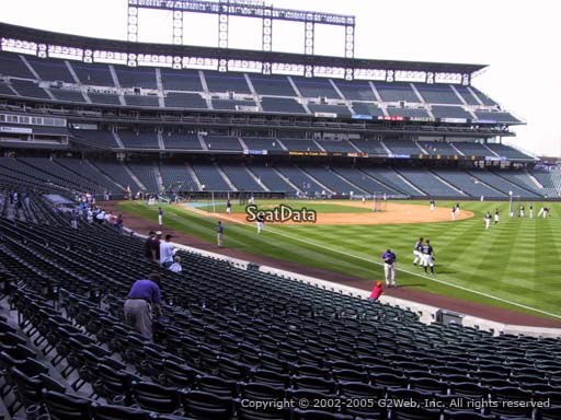 Seat view from section 113 at Coors Field, home of the Colorado Rockies