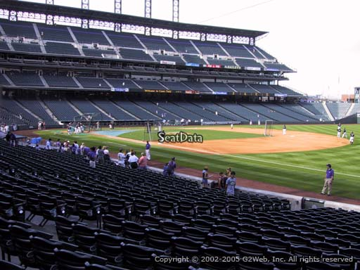 Seat view from section 117 at Coors Field, home of the Colorado Rockies