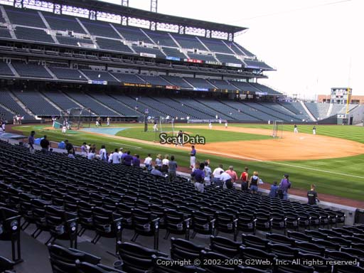 Seat view from section 118 at Coors Field, home of the Colorado Rockies