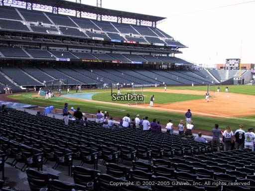 Seat view from section 119 at Coors Field, home of the Colorado Rockies