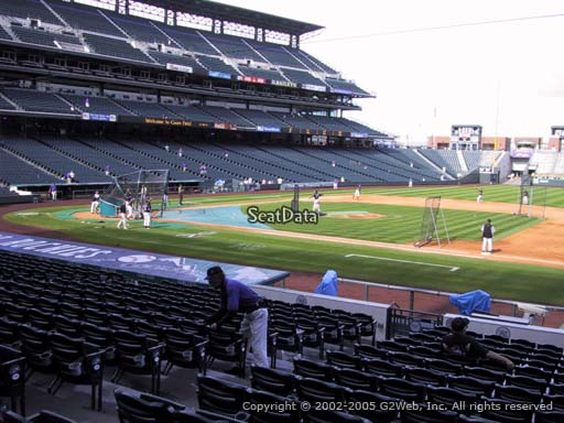 Seat view from section 121 at Coors Field, home of the Colorado Rockies