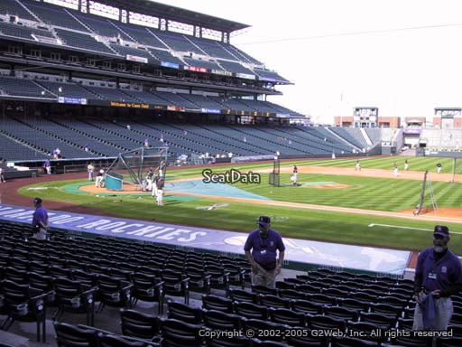 Seat view from section 122 at Coors Field, home of the Colorado Rockies