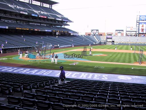 Seat view from section 123 at Coors Field, home of the Colorado Rockies