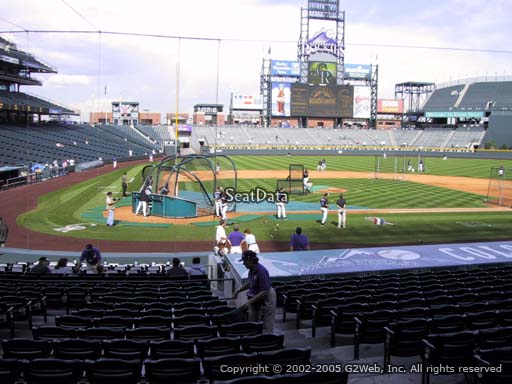 Seat view from section 126 at Coors Field, home of the Colorado Rockies