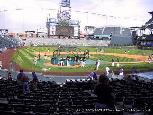 Seat view from section 128 at Coors Field, home of the Colorado Rockies