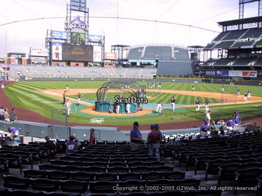 Seat view from section 129 at Coors Field, home of the Colorado Rockies