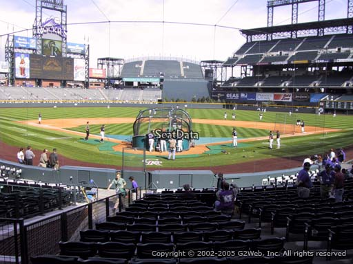 Seat view from section 130 at Coors Field, home of the Colorado Rockies