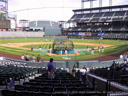 Seat view from section 131 at Coors Field, home of the Colorado Rockies