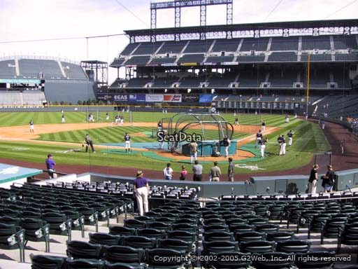 Seat view from section 133 at Coors Field, home of the Colorado Rockies
