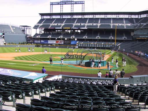 Seat view from section 134 at Coors Field, home of the Colorado Rockies