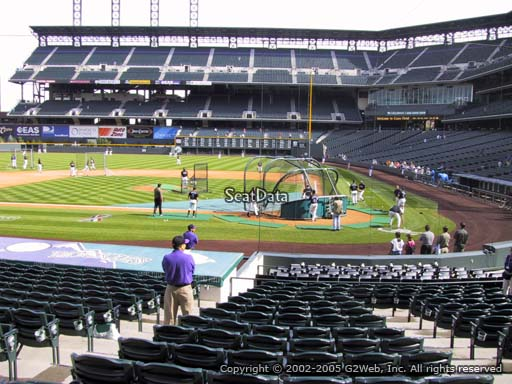 Seat view from section 135 at Coors Field, home of the Colorado Rockies